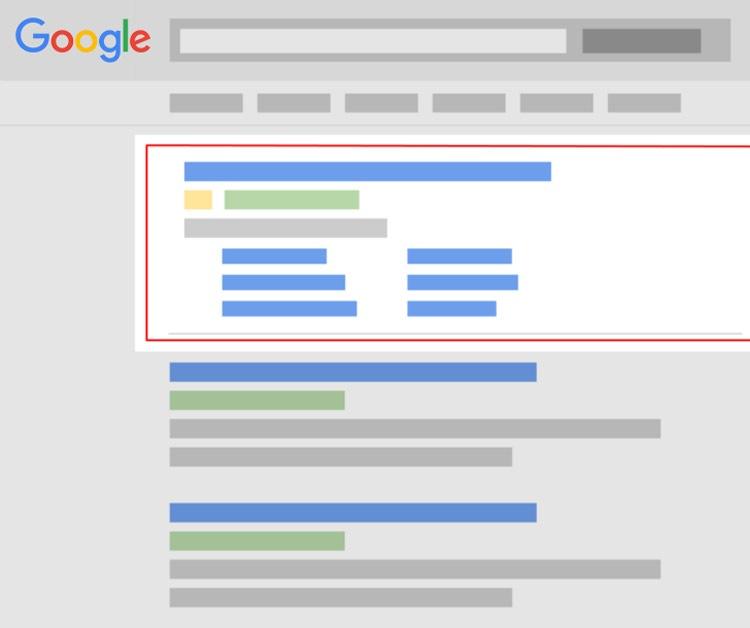 boven aan komen in google